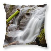 Waterfall Close Up In Marlay Park Throw Pillow