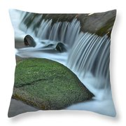 Waterfall Close Up Throw Pillow