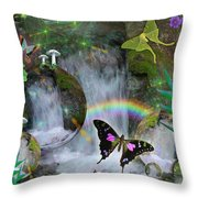 Waterfall Daydream Throw Pillow by Alixandra Mullins