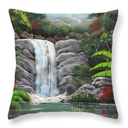 Waterfall Fantasy Throw Pillow