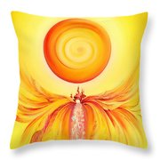 Waterfall From Series Angel's Town Throw Pillow