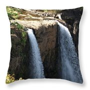 Waterfall From The Top Throw Pillow