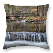 Waterfall - George Childs State Park Throw Pillow