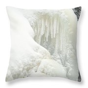Waterfall Ice Formation Throw Pillow