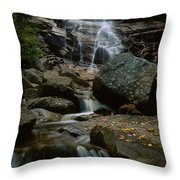 Waterfall In A Forest, Arethusa Falls Throw Pillow