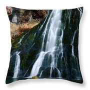 Waterfall In Austria Panorama Throw Pillow