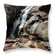 Waterfall In Colorado Throw Pillow