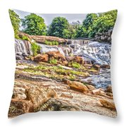 Waterfall In Contrast Throw Pillow