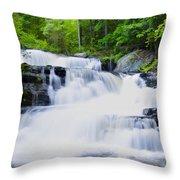 Waterfall In The Pocono Mountains Throw Pillow