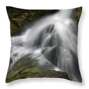 Waterfall In The Rocks Throw Pillow