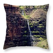 Waterfall In The Valley Throw Pillow