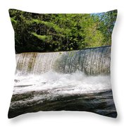 Waterfall In Woodstock Vermont Throw Pillow