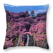 Waterfall Kauai Hawaii  Throw Pillow