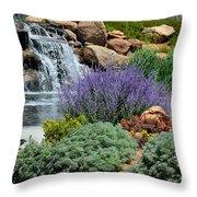 Waterfall Lanscape Throw Pillow
