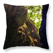 Waterfall Mountain Throw Pillow