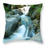 Waterfall Near Paradise Throw Pillow