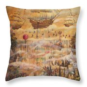 Waterfall Of Prosperity Throw Pillow