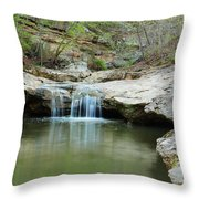 Waterfall On Piney Creek Throw Pillow