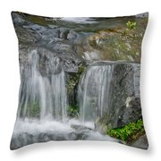 Waterfall On The Paradise River Throw Pillow