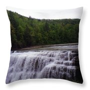 Waterfall On The River Throw Pillow