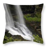 Waterfalls At Base Throw Pillow