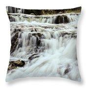 Waterfalls Flowing Throw Pillow