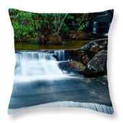 Waterfalls Of Carreck Creek Throw Pillow