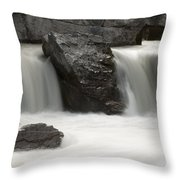 Waterfalls On Nigel Creek Throw Pillow
