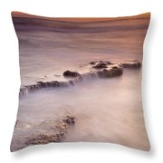 Waterfalls On The Rocks Throw Pillow