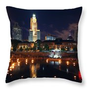 Waterfire Providence Throw Pillow