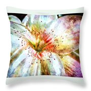 Waterflower Throw Pillow