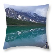 Waterfowl Lake Throw Pillow