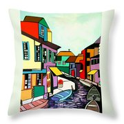 Waterfront Throw Pillow by Anthony Falbo