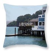 Waterfront Dining Throw Pillow