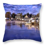 Waterfront Morning Throw Pillow