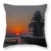 Waterfront Park Sunrise Throw Pillow