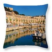 Reflect In Valletta Malta Throw Pillow