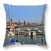 Waterfront View Hoboken Throw Pillow