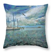 Waterfront View  Throw Pillow