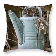Watering Can Pot Throw Pillow