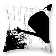 Watering Time Shadow Throw Pillow