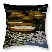 Waterlilies All Throw Pillow