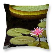 Waterlilies And Platters Vertical Romance Throw Pillow