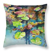 Waterlilies In Shadow Throw Pillow