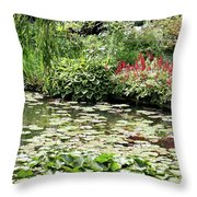 Waterlily Pond Giverney Throw Pillow