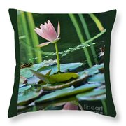 Waterlily Whimsy Throw Pillow