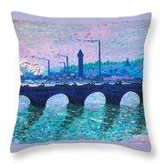 Waterloo Bridge Homage To Monet Throw Pillow by Kevin Croitz