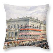 Waterloo Place And Pall Mall Throw Pillow