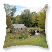 Waterloo Village - Blacksmith Shop Throw Pillow