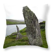 Waters Edge Stones At Bernera Throw Pillow